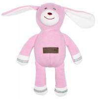 Juddlies design Cottage Collection - Rattle cotton (organic) - Dog - Sunset Pink