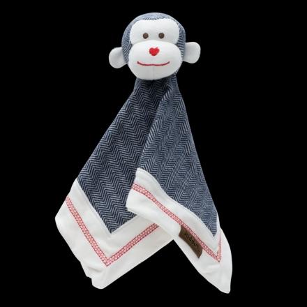 Juddlies design Cottage Collection - Cuddle cloth cotton (organic) - Ape - Lake Blue