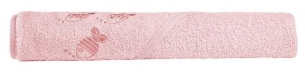 Odenwälder hooded bath towel cool fish light coral 100x100