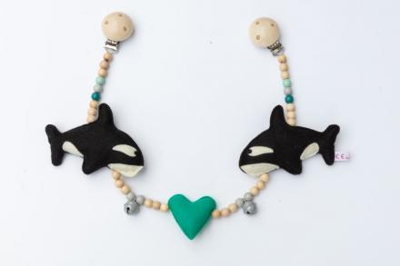 Deine Sommerliebe Pram chain Orca turquoise