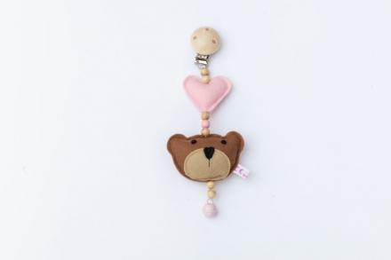 Deine Sommerliebe Clip Bear pink