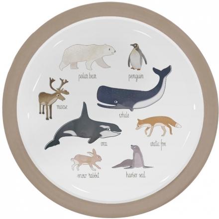 Sebra Melamine plate arctic animals