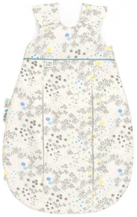 Odenwälder prima klima Jersey sleeping bag flower birds 70 cm blue