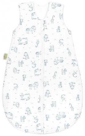 Odenwälder Jersey sleeping bag happy animals 90 cm blue