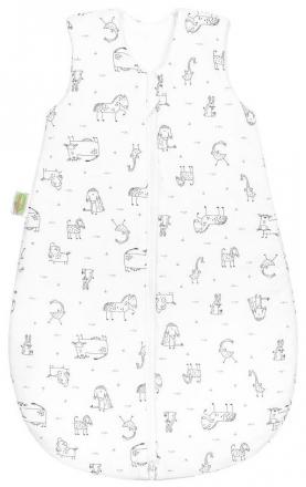 Odenwälder Jersey sleeping bag happy animals 90 cm grey