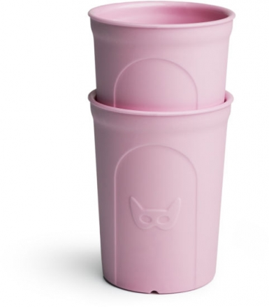 Herobility Eco Toddler Glass 250ml pink (2 pack)