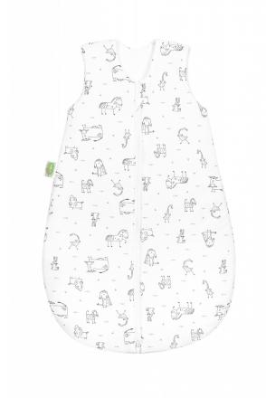 Odenwälder Jersey summer sleeping bag 90cm happy animals grey