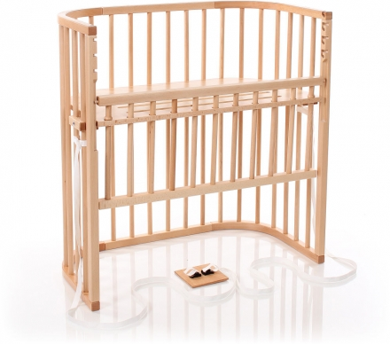 Tobi babybay Co-sleeper bed Boxspring Comfort natural pained wood