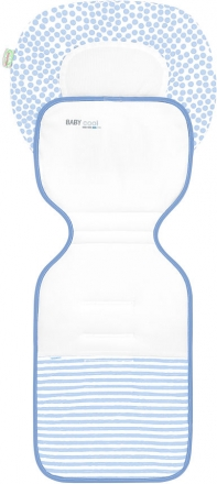 Odenwälder Babycool stroller inlay ergonomic Coolmax stripes blue