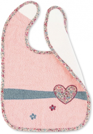 Sterntaler Bib with water-repellent inlay Mabel light pink