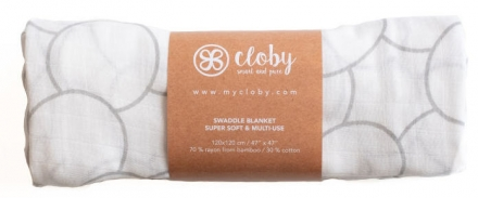 Cloby Bamboo swaddle blanket grey