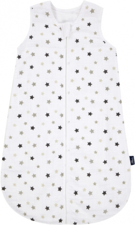 Alvi sleeping bag made of gauze 110 cm Stars silber