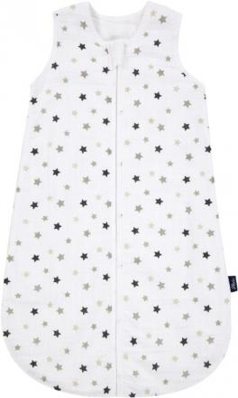 Alvi sleeping bag made of gauze 70 cm Stars silver