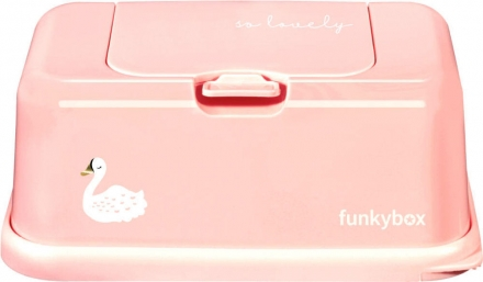 Funkybox for wet wipes blush pink swan