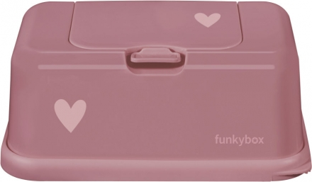 Funkybox for wet wipes pink little hearts