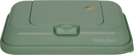Funkybox To Go for wet wipes olive green clover