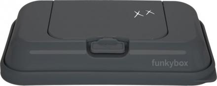 Funkybox To Go for wet wipes dark grey wonderful