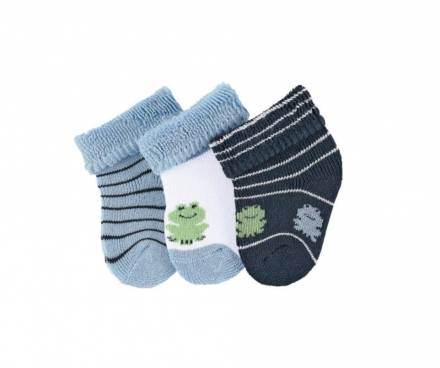 Sterntaler newborn socks frog 3 pack size 13/14