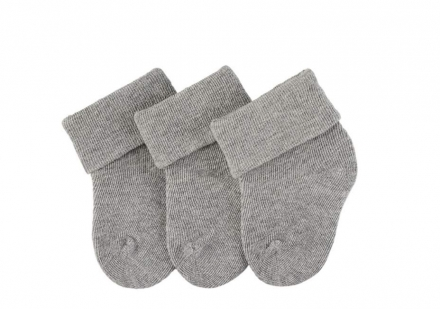 Sterntaler newborn socks silver 3 pack size 13/14