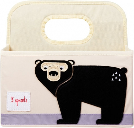 3sprouts Diaper storage basket bear
