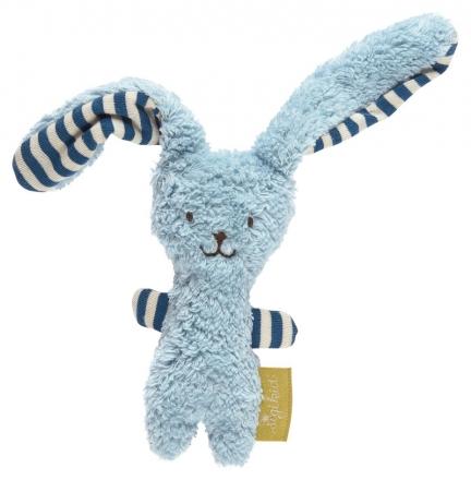 Sigikid Organic cotton Grasp toy bunny blue Green Collection