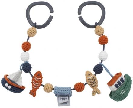 Sebra Crochet pram chain Seven Seas