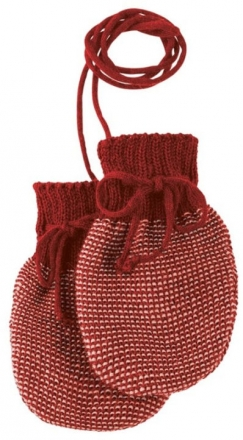 Disana Knitted gloves size 0 bordeaux light pink