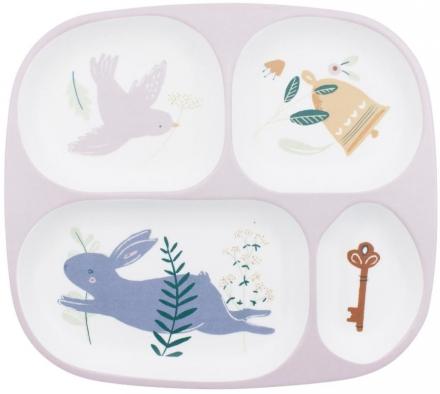Sebra Melamine plate with 4 rooms Daydreams