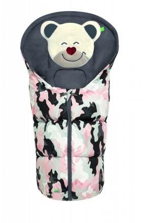 Odenwälder little footmuff Mucki Fashion camouflage coll. 20/21 powder