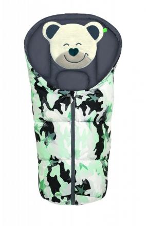 Odenwälder little footmuff Mucki Fashion camouflage coll. 20/21 mint
