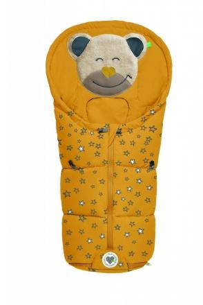 Odenwälder little footmuff Mucki Fashion sparkling stars coll. 20/21 mustard