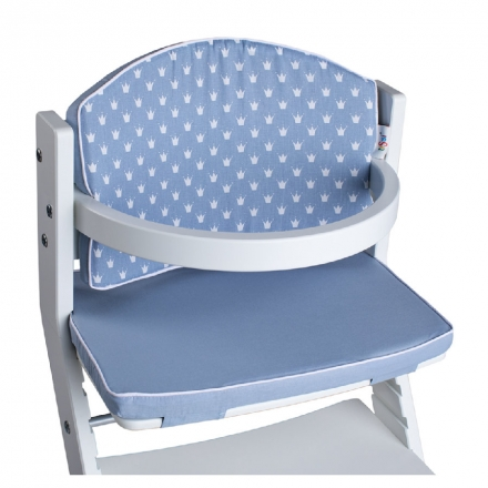 DawOst tiSsi® Cushion for high chair Crowns blue