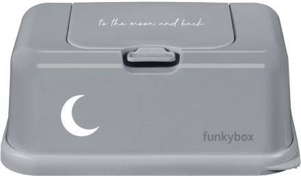 Funkybox for wet wipes ash grey Moon shiny