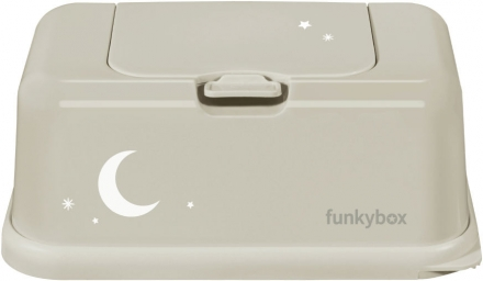 Funkybox for wet wipes sand Moon shiny