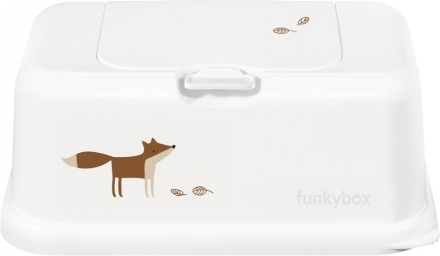 Funkybox for wet wipes white Funky Fox matte