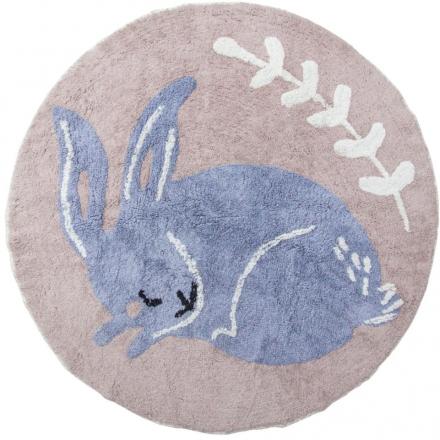 Sebra Woven floor mat Bluebell the bunny