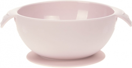 Lässig Silicone bowl with suction pad pink