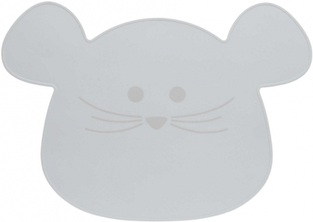 Lässig Placemat Silicone Little Chums Mouse grey