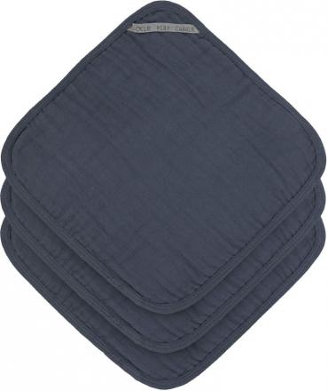 Lässig Muslin washcloth 3pcs. navy