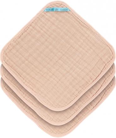 Lässig Muslin washcloth 3pcs. light pink