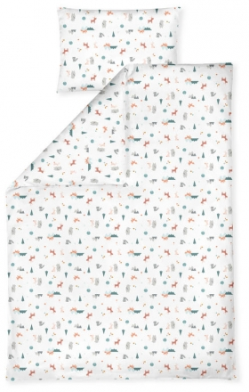 Zöllner Jersey bedding Little Fox 100x135 cm
