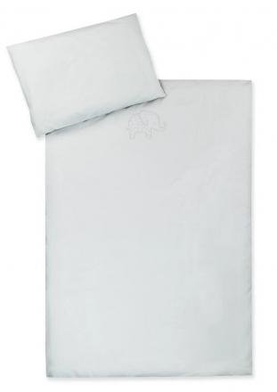 Zöllner Bedding with embroidery Organic uni sand 100x135 cm