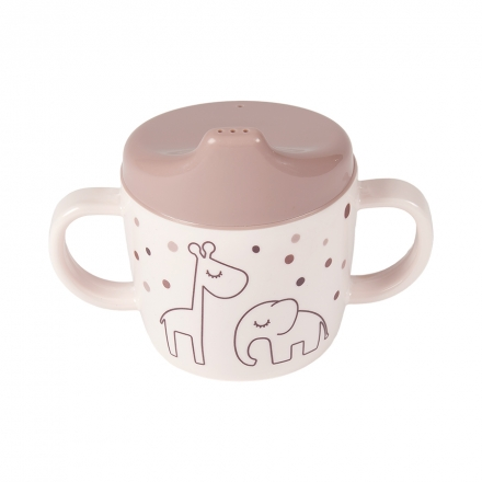 Done by Deer Spout Cup Dreamy Dots powder pink