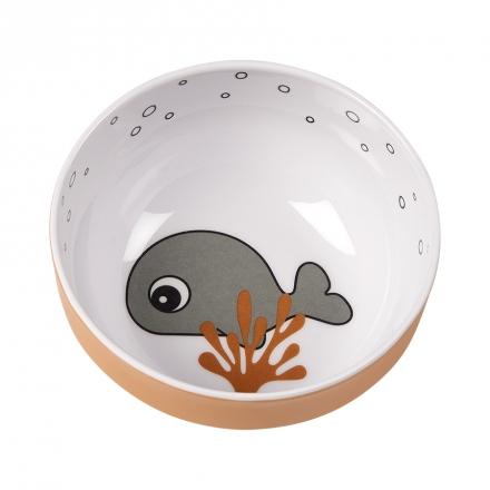 Done by Deer Yummy mini bowl Sea Friends mustard/grey