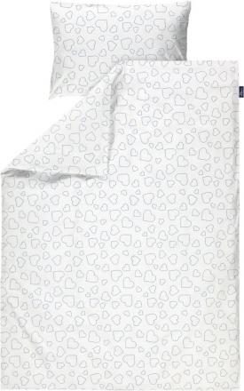 Alvi Bedding Hearts White 100x135 cm
