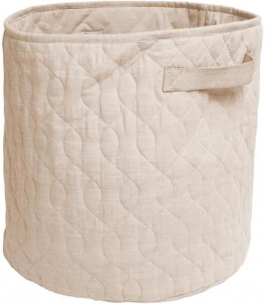 Sebra Quilted basket 48l straw beige