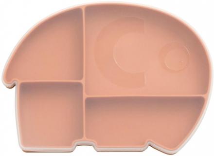 Sebra Silicone plate with lid Fanto Toasted Orange