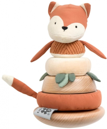 Sebra Stacking and tilting fox Sparky fox tail red