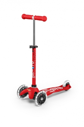 Micro mini scooter MMD052 deluxe LED red