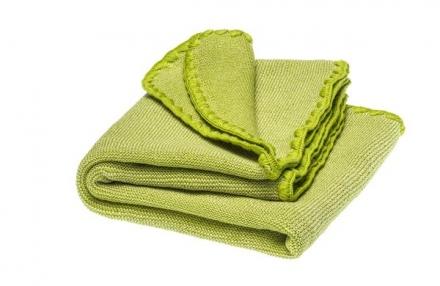 Disana Summer blanket natural apple green 100x80cm